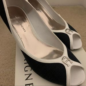 Etienne Aigner Black & White Heels